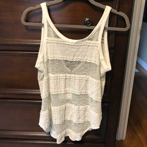 Chaser Lace Knit Sheer TankTop